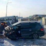 После ДТП с маршруткой в Кызыле госпитализировали троих детей
