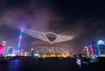 Фееричное шоу от Genesis: смотрим небесную презентацию в Китае (видео)