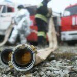В Омске загорелся продуктовый склад