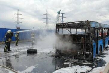 В Москве загорелся автобус